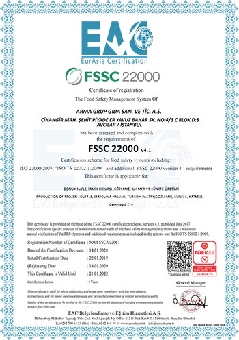 FSSC 22000 GIDA GÜVENLİĞİ